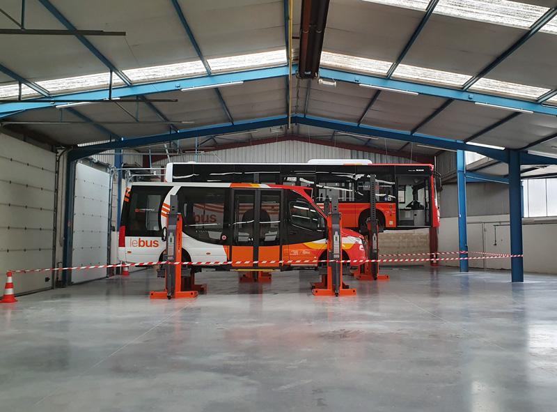 Mobilité – Première visite de l'atelier de maintenance.